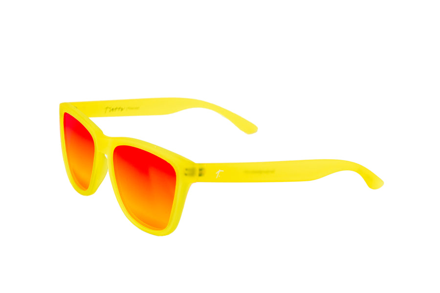 womens running sunglasses. yellow/ red mirrored lens sunglasses. polarized sunglasses. sunglasses for women and men