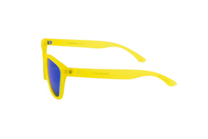 womens running sunglasses. yellow/ blue mirrored lens sunglasses. polarized sunglasses. sunglasses for women and men