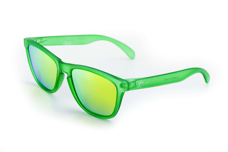 running sunglasses. polarized sunglasses for women/men. green mirrored lens. sunglasses for runners.