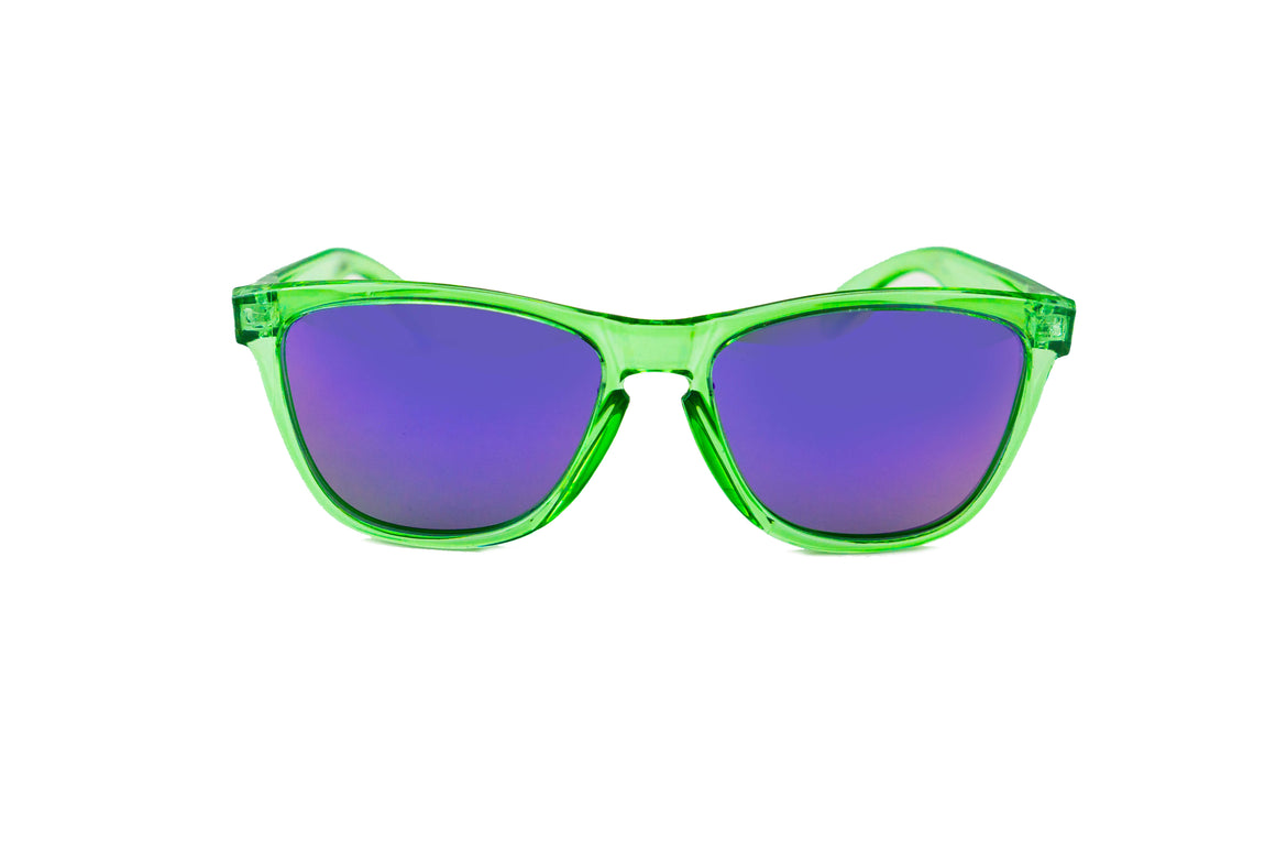 Tierra Running Sunglasses - Green Polarized sunglasses for women/men. Green frame/ Purple lens. sunglasses for runners