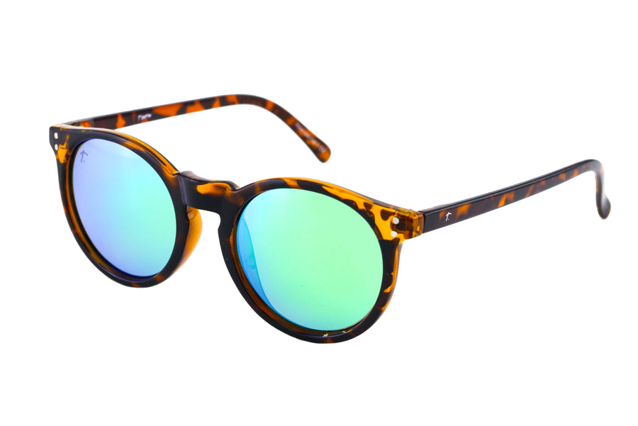round sunglasses. tortoise shell sunglasses for women. green lens sunglasses