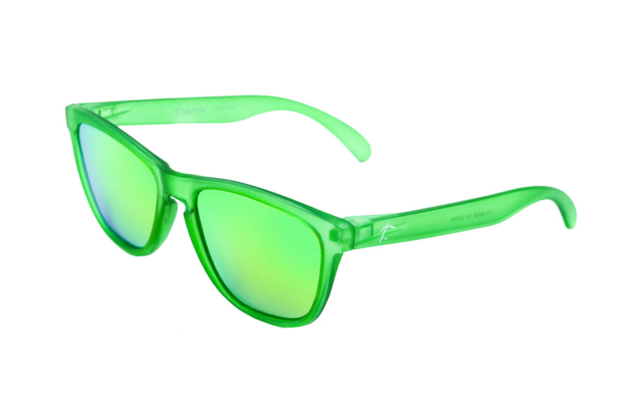 Running sunglasses. polarized Sunglasses. Sunglasses for women/men. Green frame/ Green mirrored lens.