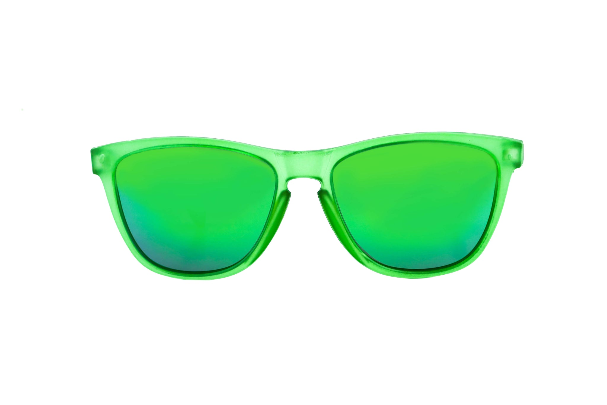 Green polarized running sunglasses for women/men. Green frame/ Green ...