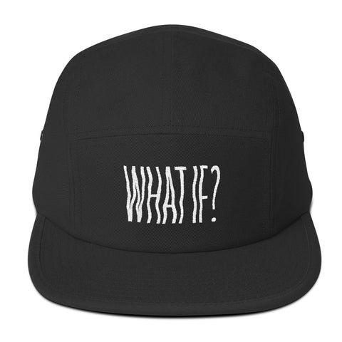 What If? - Five Panel Cap - White Text