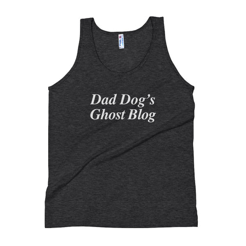 """Dad Dog's Ghost Blog"" Unisex Tank Top"
