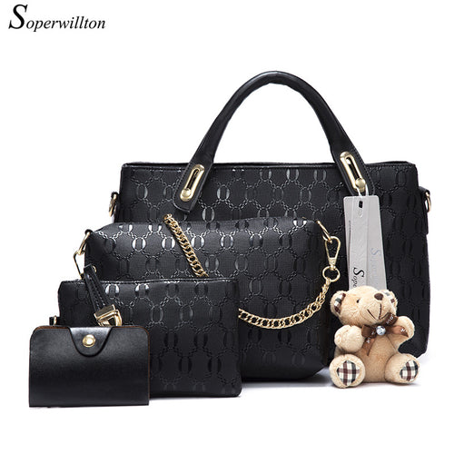 Women Messenger Bag Handbag PU Leather Composite Bag