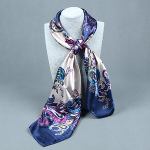 Silk Square Big Size 90x90cm Scarf  High Quality  Imitated Silk Satin Scarves Polyester Shawl