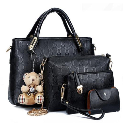 suutop messenger handbag set PU Leather composite bag  4pcs/set