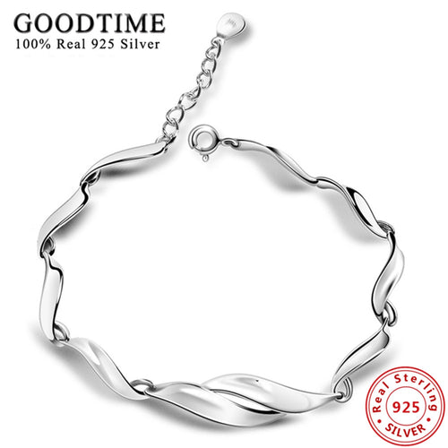 Simple Style 925 Sterling Silver Bracelet