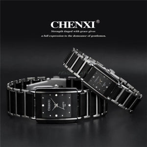 Luxury Wristwatch Man Female Quartz Wrist Watch Ceramic waterproof Watch