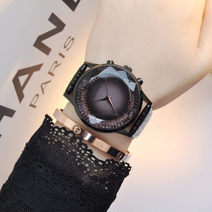 Luxury Diamond Watch Women Watches Genuine Leather Ladies Watch