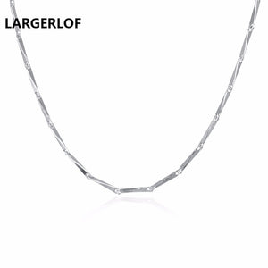 LARGERLOF Fashion Pendant Necklaces For Women 2017 Romantic 925 Sterling Silver Necklaces