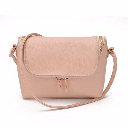Small Fold Over Bag. Mini Messenger, Leather, Crossbody, Sling Shoulder bags Handbag