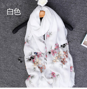 high quality embroider floral Pashmina Embroidered Shawl/Scarf /Scarves Wrap