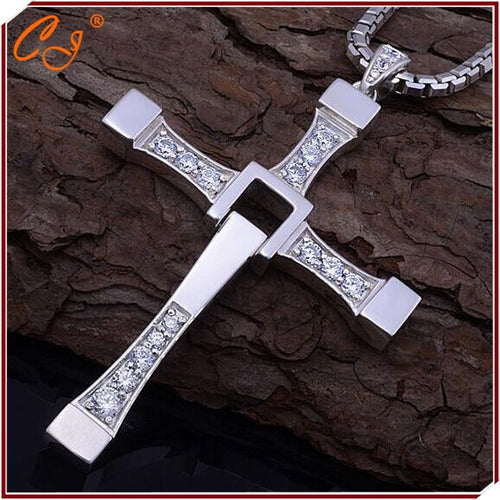 Fast and Furious Necklace, Man Cross Necklace, Dominic Toretto Jesus Necklace
