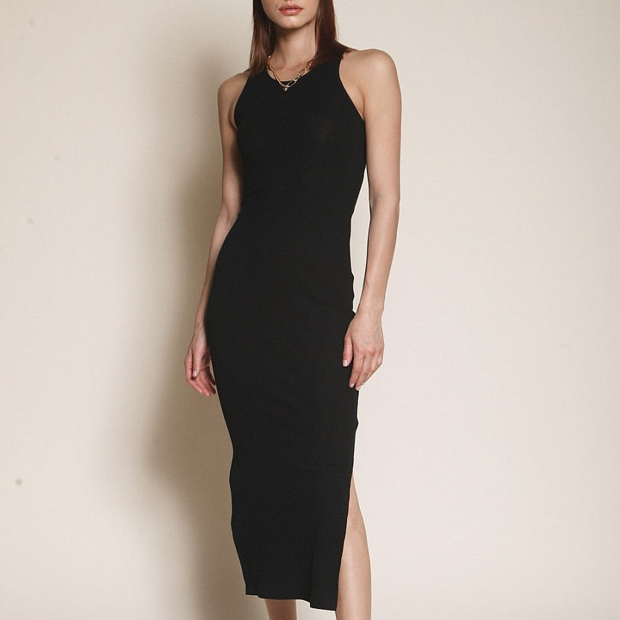 """gigi"" ribbed midi dress"