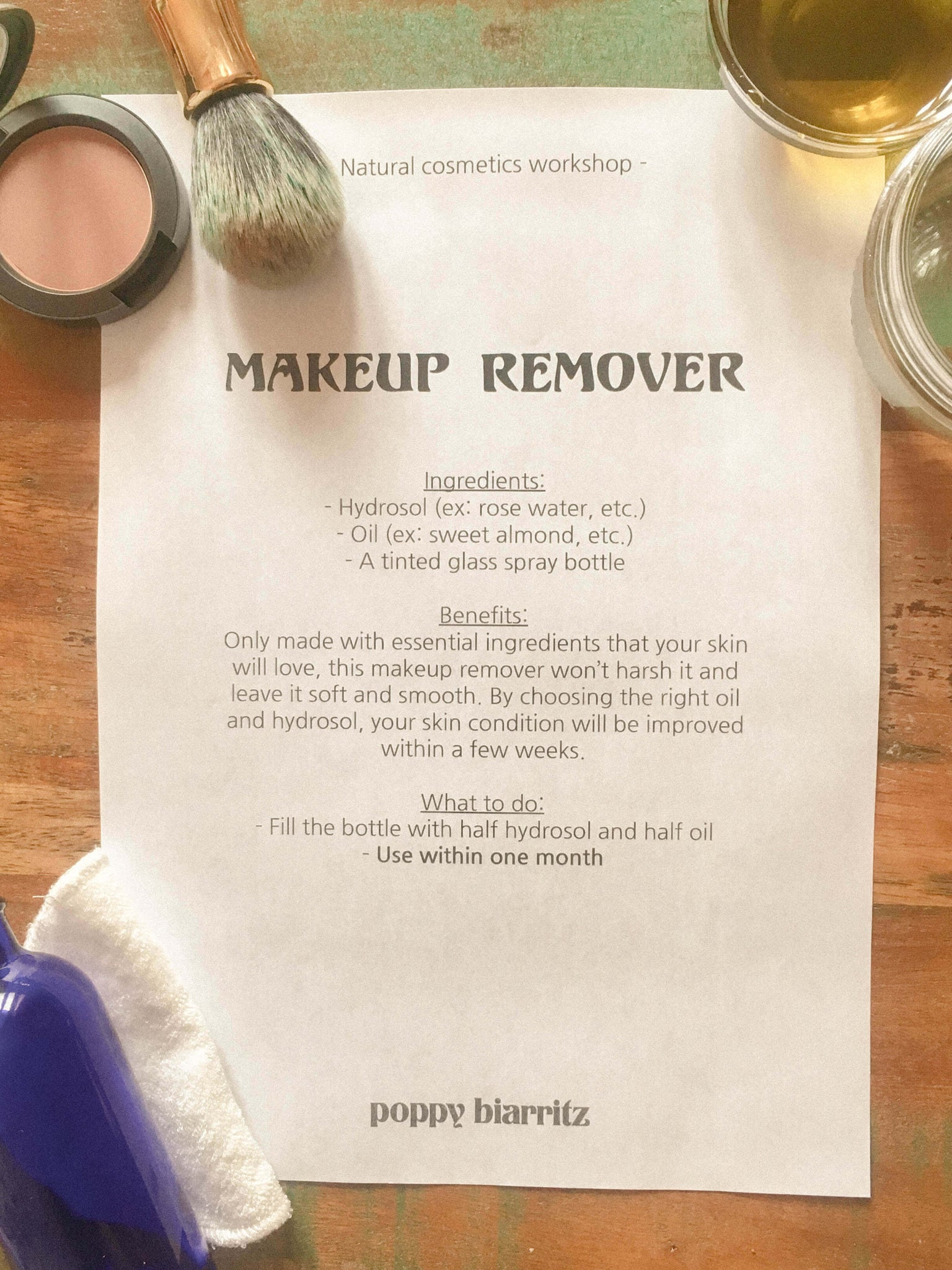 natural makeup remover recipe