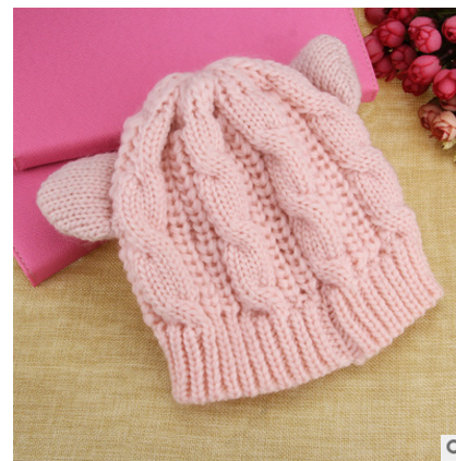 Cat Ears Knit Hat