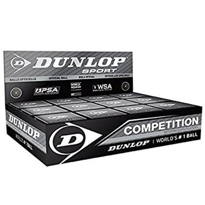 1 Dozen Dunlop Single Dot Squash Balls
