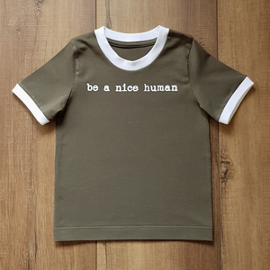 Be a Nice Human Ringer Tee