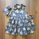 Lucy Lou Dress in Slate Floral