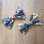 Mini Bow Set in Slate Floral