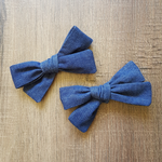 Mini Bow Set in Denim