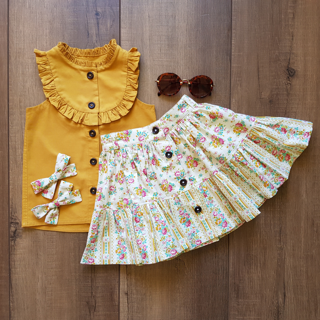 Evie Skirt in Buttered Popcorn