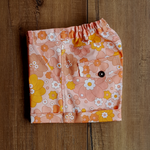 Katie Cuffed Short in Retro Peach Floral