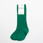 Emerald Cable Knit Knee Highs