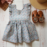 Alice Pinny Dress in Blueberry Jam