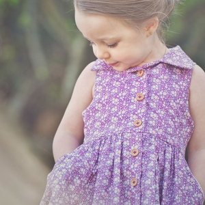 Lucy Lou Dress in Plum Jam