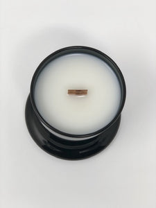GLOSSY BLACK CLOCHE LUXURY VESSEL CANDLES