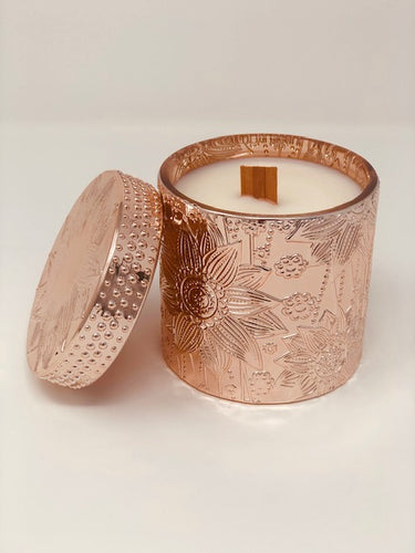 ROSE GOLD LUXURY LOTUS FLOWER CANDLES