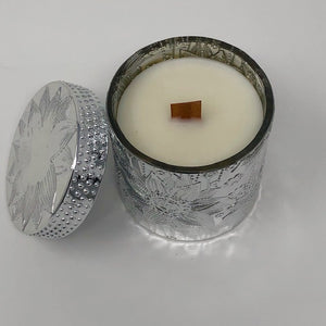 SILVER LUXURY LOTUS FLOWER CANDLES