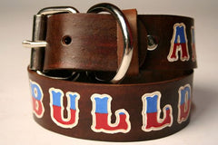 Custom Leather Dog Collar - Extra Large
