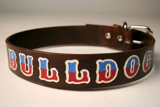Custom Leather Dog Collar - Large