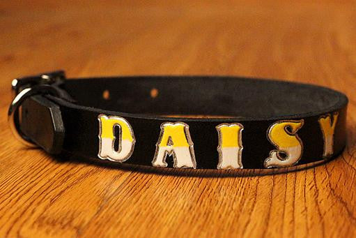 Custom Leather Dog Collar - Medium