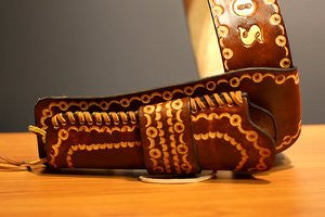 Custom Leather Gun Holster Belt