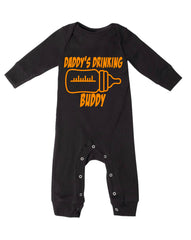 DADDY'S DRINKING BUDDY LONG LEGGED BODYSUIT