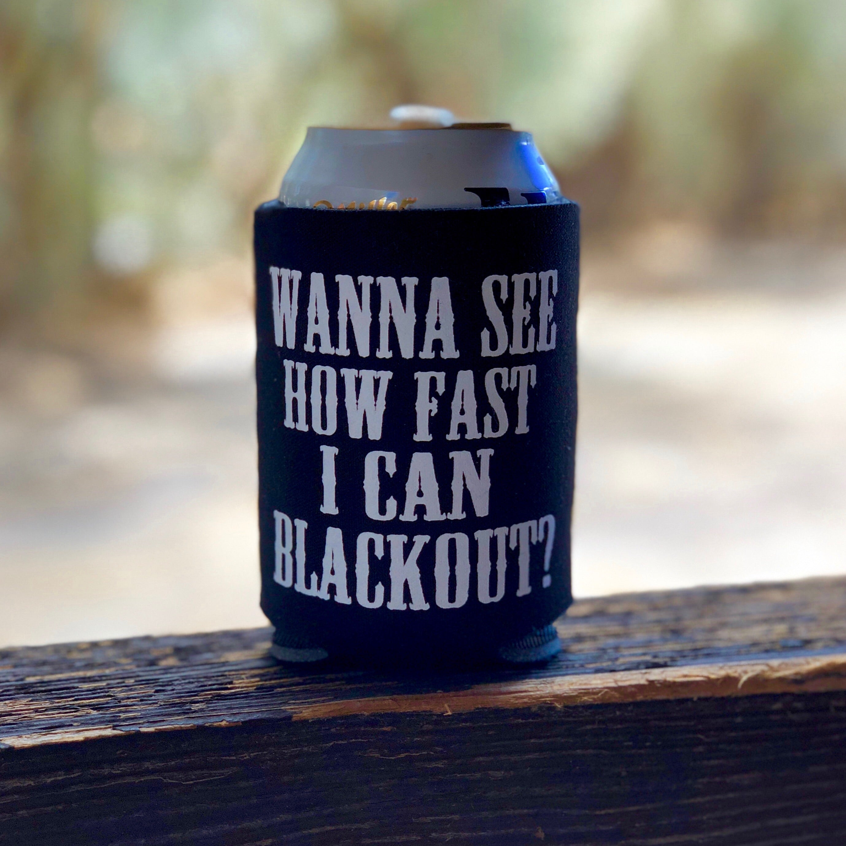 Blackout Koozie