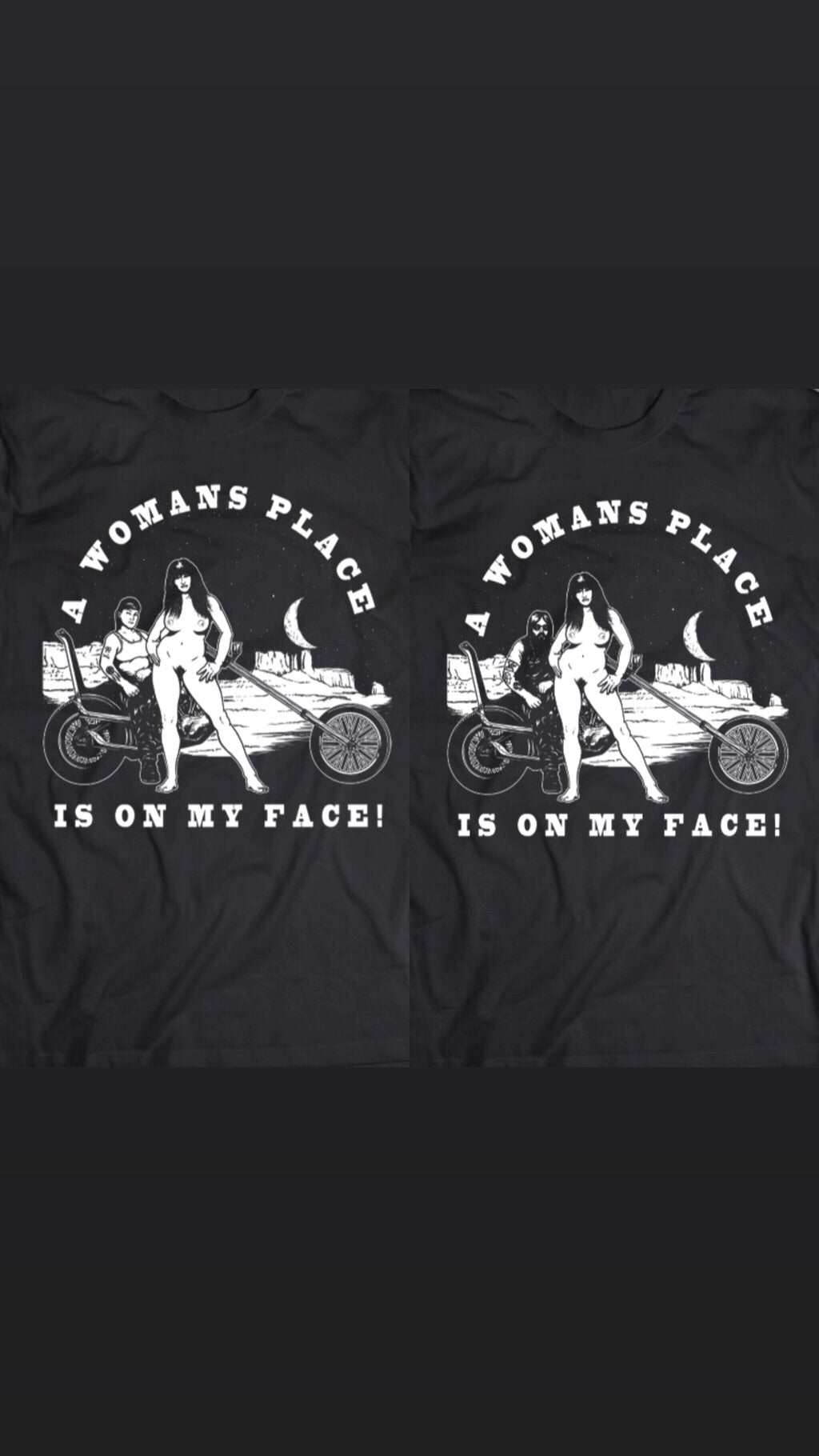 Woman's place tee
