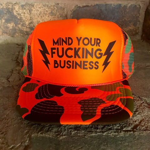 Mind Your Fucking Business Hat