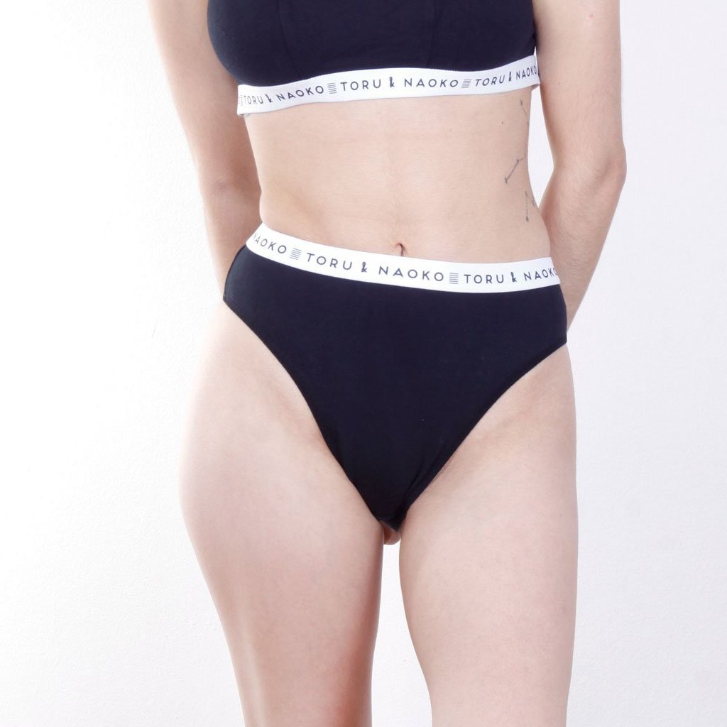 Panty high waist Ora color negro