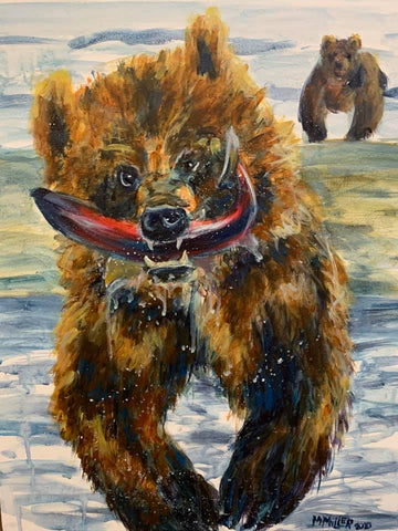 Bear Gone Fishin' - Original Painting