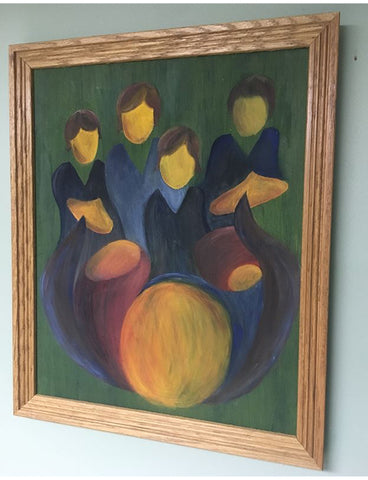 Beatles Abstract - Framed Oil Painting