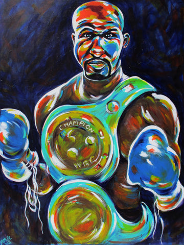 The Alien (Bernard Hopkins) - Original Painting