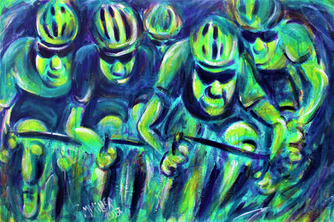 Peloton - Original Painting