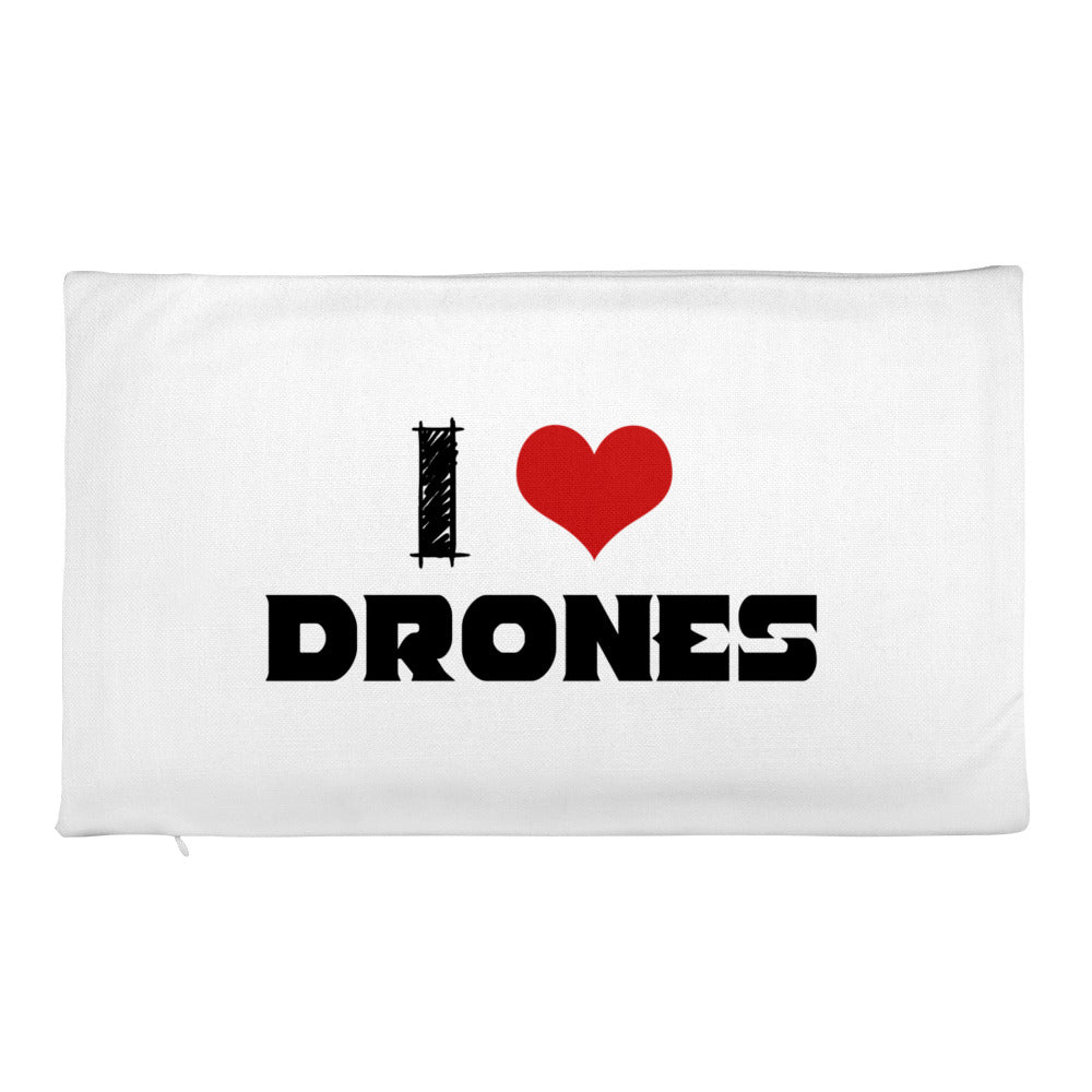 20 x 12 I Love Drones Pillow Case - Drone Wear