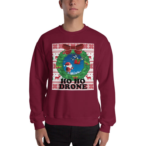 Ho Ho Drone Ugly Sweater - Drone Wear